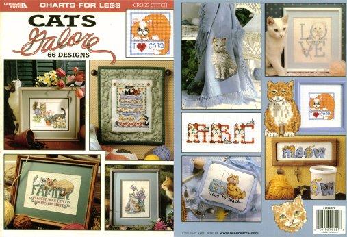 Leisure Arts-Cats Galore