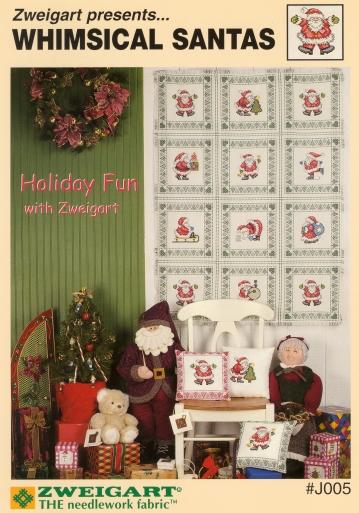 Zweigart-Whimsical Santas