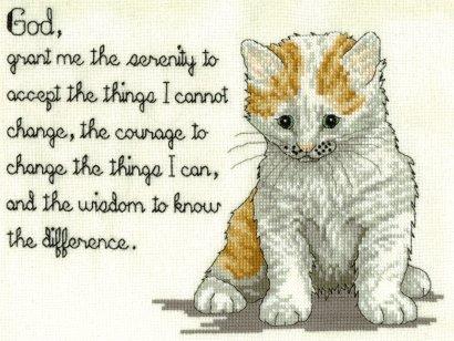 Kitty Serenity Prayer--Finished December 2004