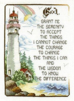 Lighthouse Serenity Prayer--Finished September 2004