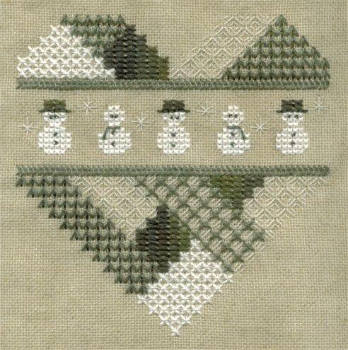 Sekas' Snowman Heart--Finished July 2004
